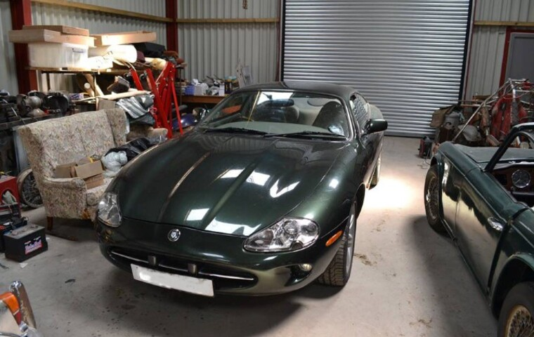 Jaguar XK8 in storage