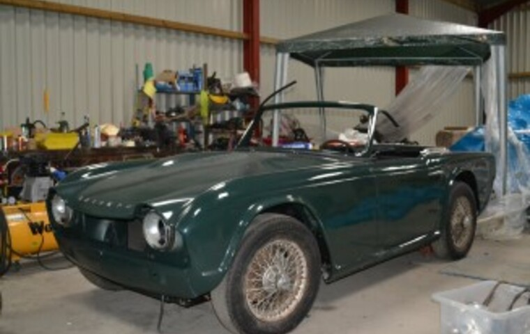 Triumph TR4 being restored