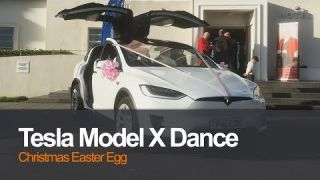 Tesla Model X Dance Christmas Easter Egg - Falcon Wedding Hire The Midland Hotel | Planet Auto