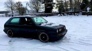 Mk2 Golf GTI 16V playing in the snow Killington Lake, Cumbria   Planet Auto