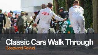 Classic cars Goodwood Revival walk through