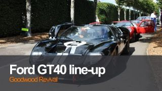 Ford GT40 Lineup Goodwood Revival